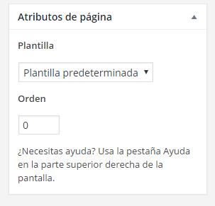 atributos de página personalizada